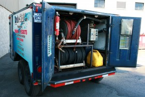 Water pressure cleaning unit